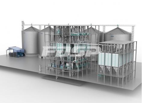 连云港保税区时产150吨玉米深加工生产线