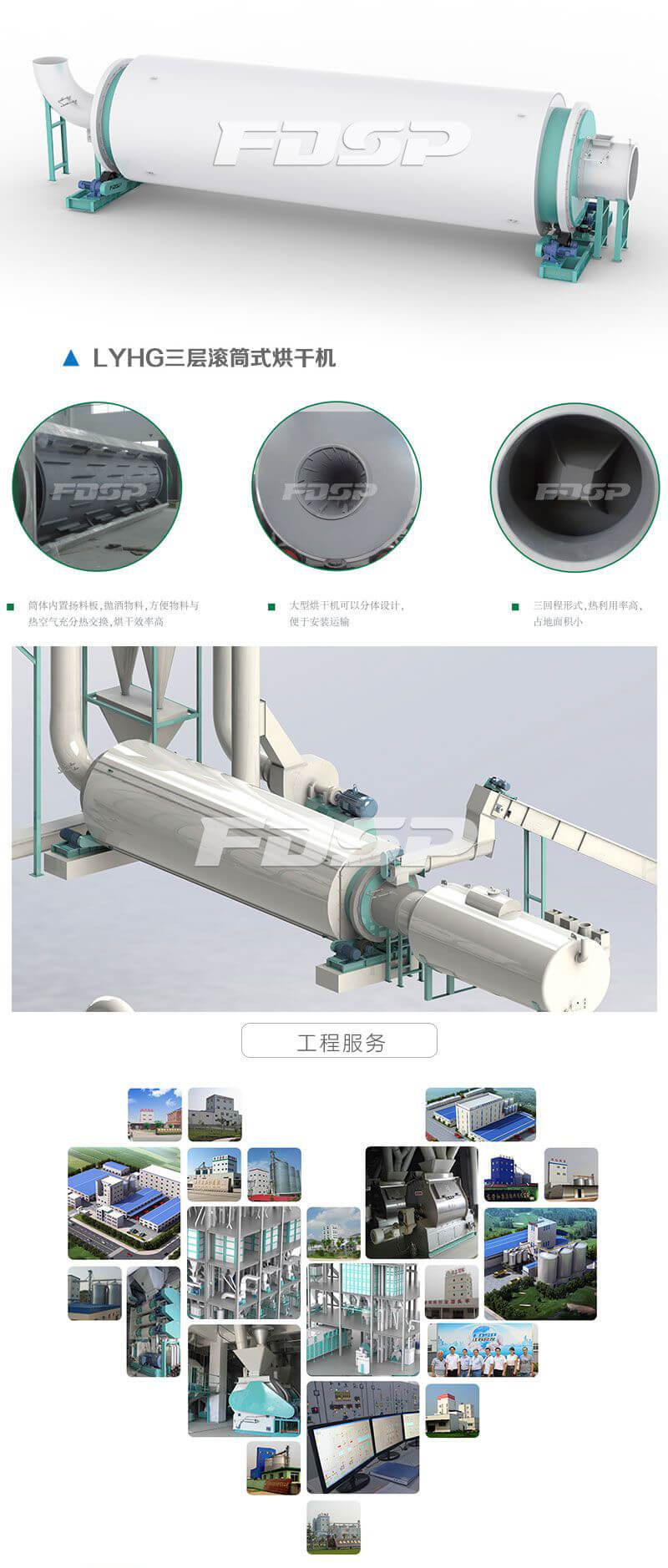LYHG 系列三层滚筒烘干机