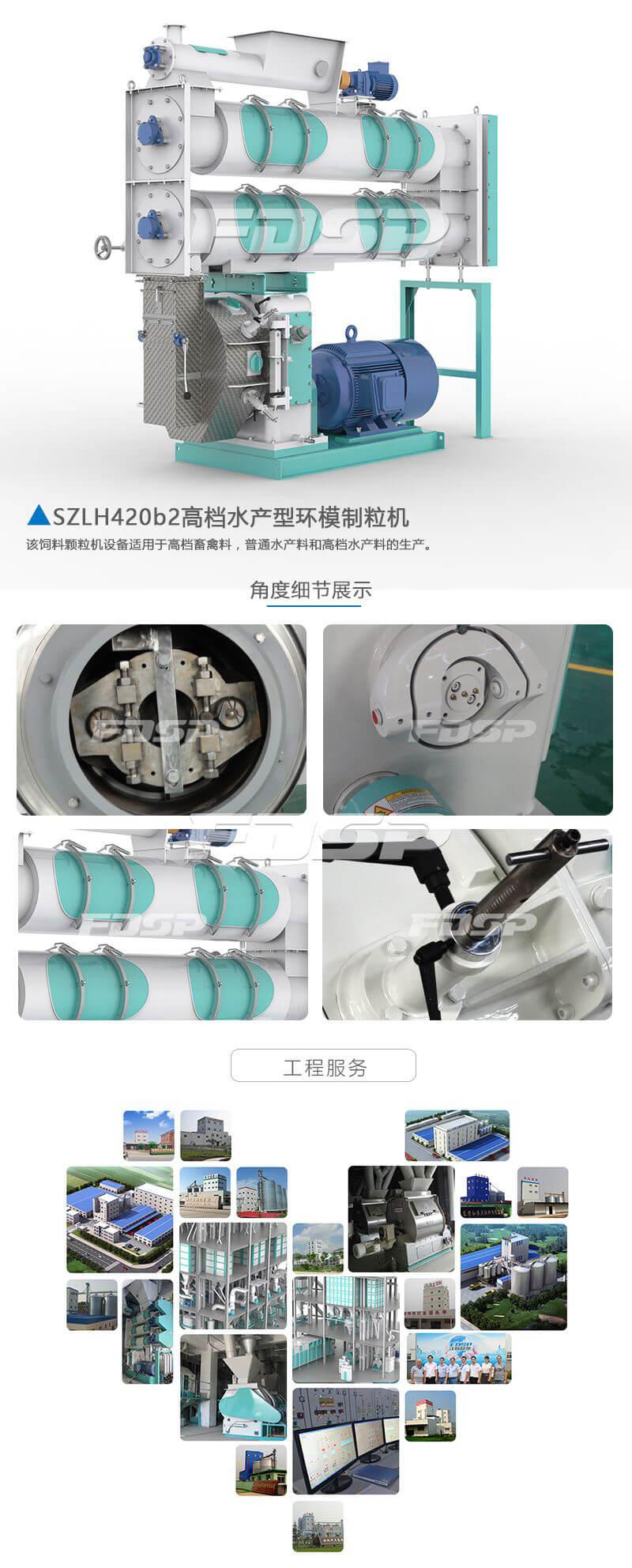 饲料加工设备SZLH420b2系列水产养殖饲料制粒机