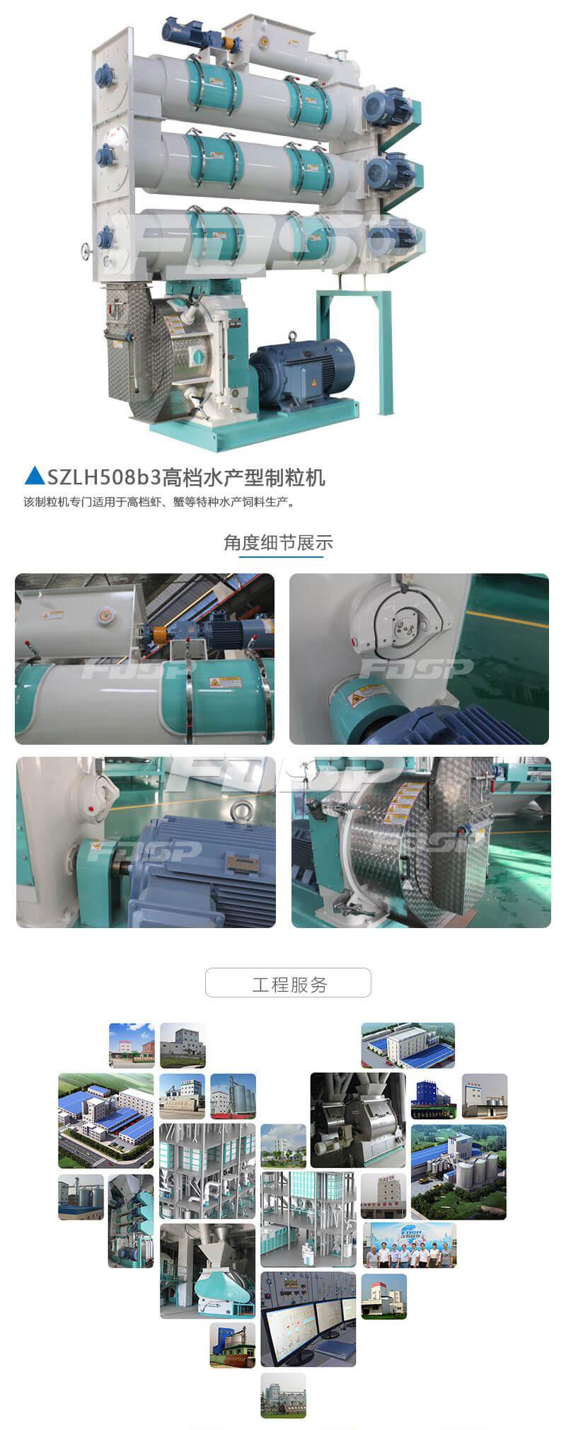 饲料机械SZLH508b3系列高档水产养殖颗粒机