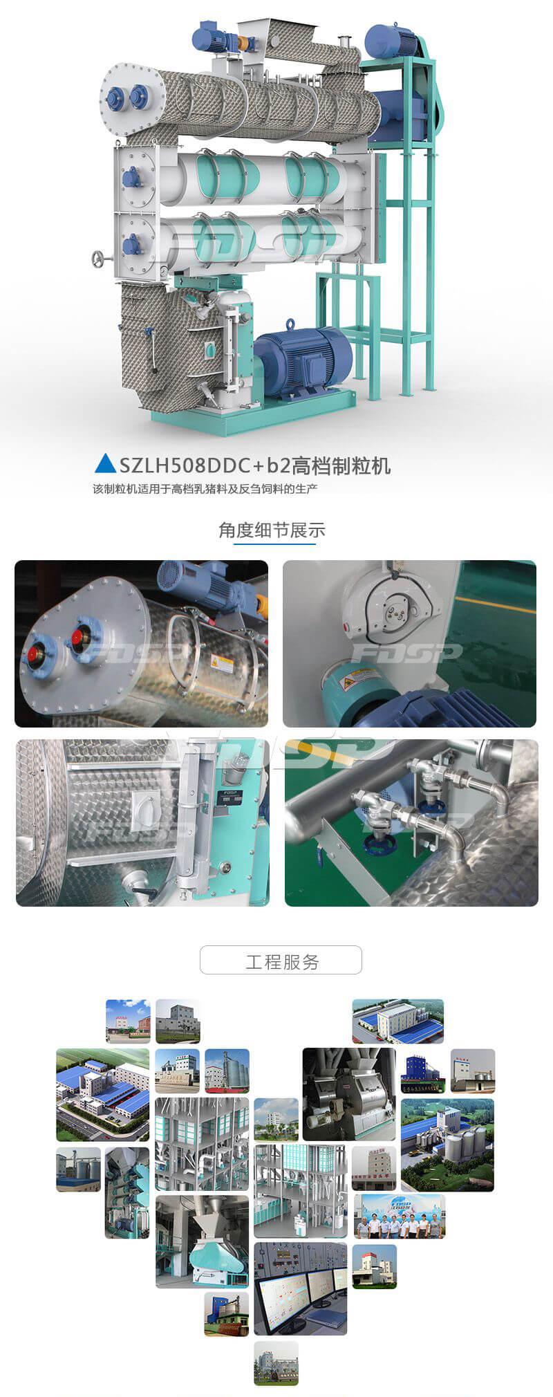 饲料机械SZLH508DDC b2系列高档畜禽水产饲料制粒机