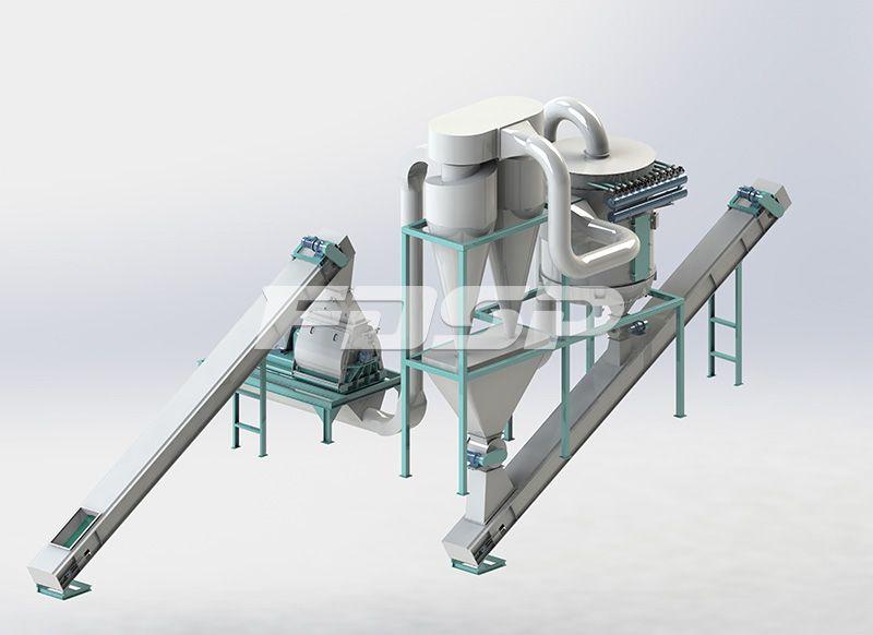 时产20吨原木制粒生产线
