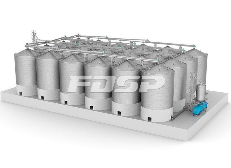 24-2500T大豆钢板仓工程