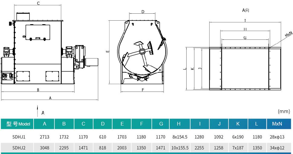 SDHJ Series Single Shaft Paddle Mixer