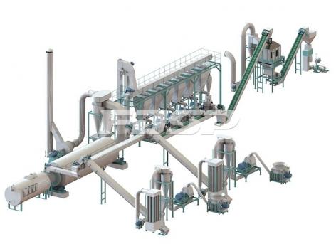 时产5-7吨生物质秸秆制粒生产线