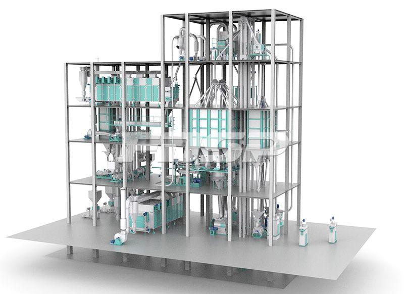 时产6-12T双线膨化水产饲料生产线