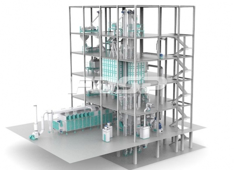 时产3-6T膨化水产饲料生产线