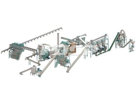 时产6-7吨猪粪有机肥制粒生产线