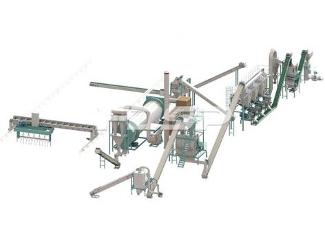 时产10-12吨牛粪有机肥颗粒生产线
