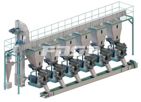 时产15吨原木制粒生产线