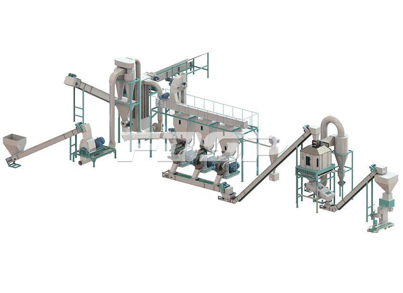 <b>时产2.5-3.5吨边角料制粒生产</b>