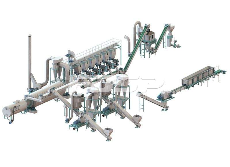 <b>时产5-7吨原木制粒生产线</b>