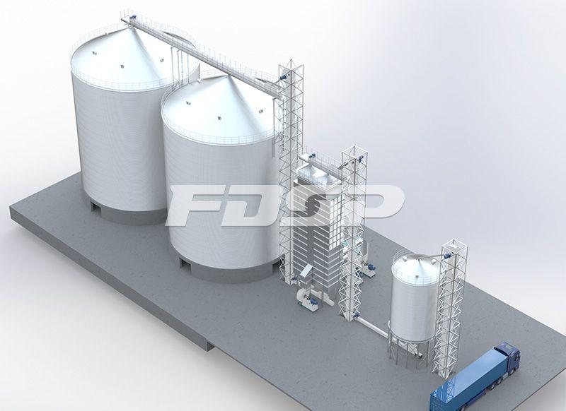 <b>粮食行业2-4000T大豆钢板仓工</b>