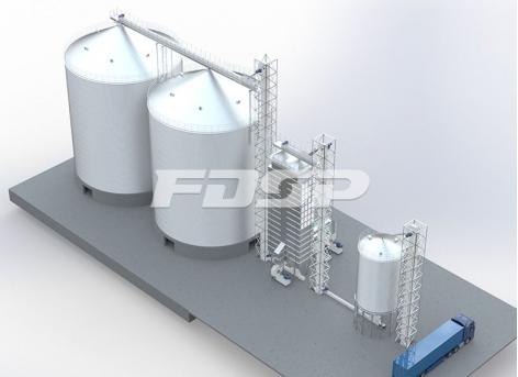 粮食行业2-4000T大豆钢板仓工程