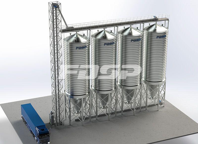 <b>4-200T豆粕钢板仓工程</b>