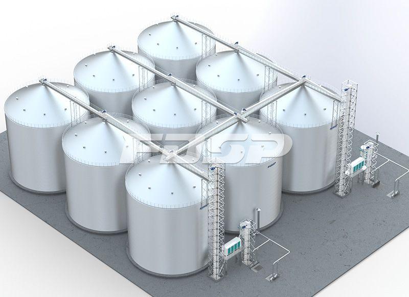 <b>饲料行业9-6000T玉米钢板仓工</b>