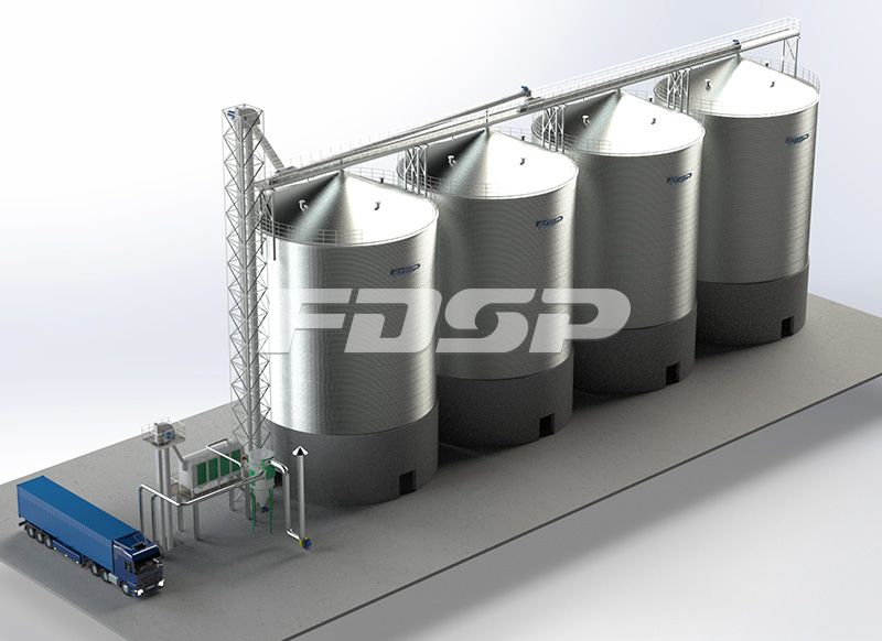 <b>油脂行业4-2000T大豆钢板仓工</b>