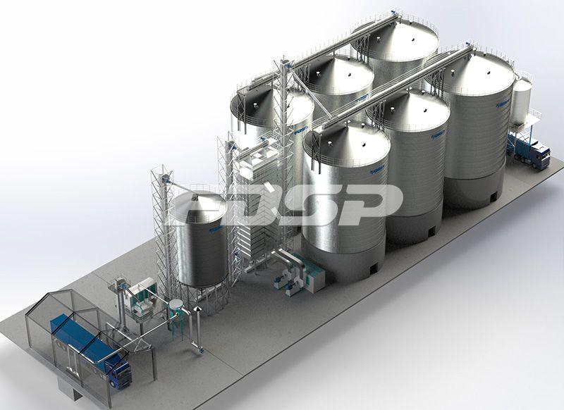 油脂行业4-1500T&2-2000T油厂钢板仓工