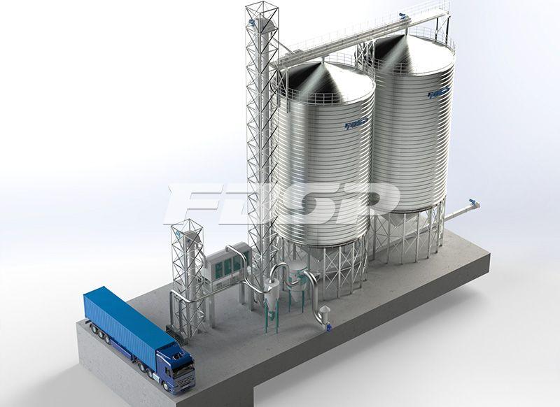 <b>酿造行业2-1000T小麦钢板仓工</b>