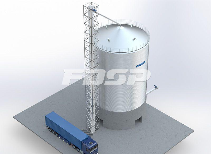 酿造行业1-1500T高粱钢板仓工程